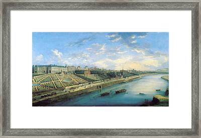 View Of Passy And Chaillot From Grenelle Oil On Canvas Framed Print