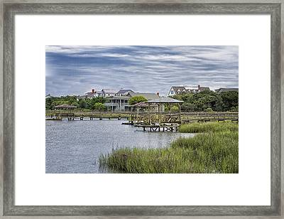 View Of Pawleys From The Creek Framed Print