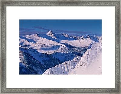View Of Pfeifferhorn From The Big Framed Print by Howie Garber