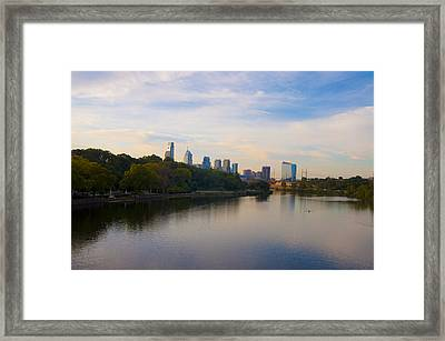 View Of Philadelphia From The Girard Avenue Bridge Framed Print by Bill Cannon