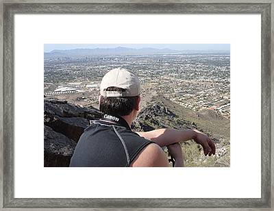 View Of Phoenix Framed Print by Gerald Dobbin