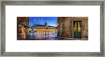 View Of Plaza De Espana Of Aviles Framed Print by Panoramic Images
