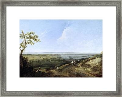 View Of Portsmouth From Portsdown Hill Framed Print