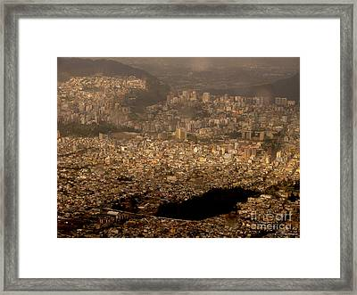 Framed Print featuring the photograph View Of Quito From The Teleferiqo by Eleanor Abramson