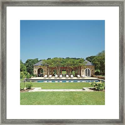 View Of Resort Swimming Pool Framed Print by Durston Saylor