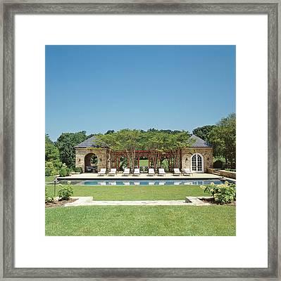 View Of Resort Swimming Pool Framed Print