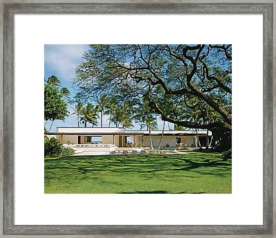 View Of Resort With Lawn Framed Print