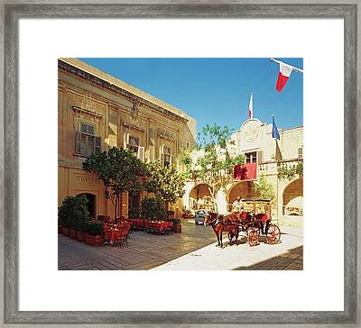View Of Restaurant Framed Print by Scott Frances