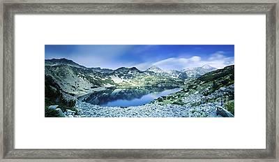 View Of Ribno Banderishko Lake In Pirin Framed Print by Evgeny Kuklev