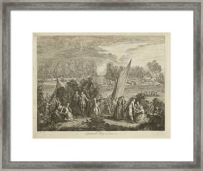 View Of Richmond Ferry Framed Print by British Library