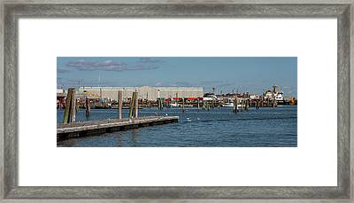 View Of Rockland Harbor, Rockland, Knox Framed Print