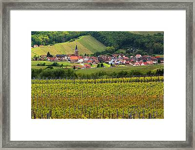 View Of Rodern From The Vineyards Of Alsace Framed Print by Greg Matchick
