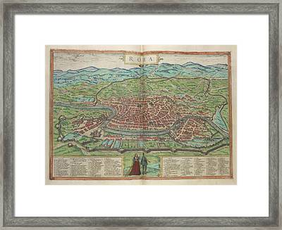 View Of Rome Framed Print by British Library