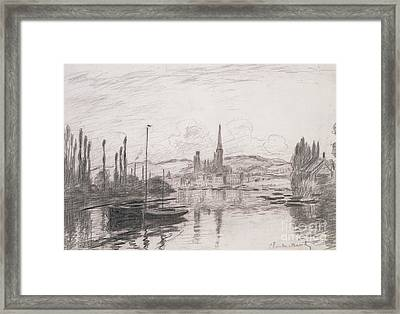 View Of Rouen Framed Print