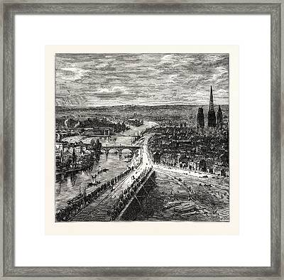 View Of Rouen From St. Catherines Hill Framed Print