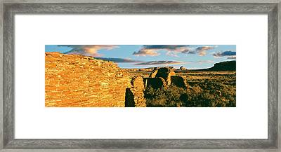 View Of Ruins Of Hungo Pavi, Chaco Framed Print
