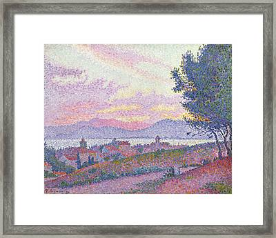 View Of Saint Tropez Framed Print by Paul Signac