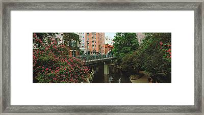 View Of San Antonio River Walk, San Framed Print