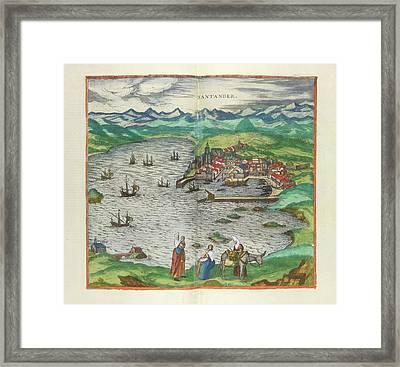 View Of Santander Framed Print
