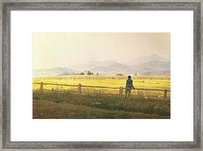View Of Schmiedebergerkamm Framed Print