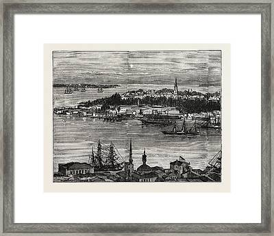 View Of Seraglio Point, Constantinople, Istanbul Framed Print by Litz Collection
