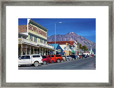 View Of Seward, Alaska Storefronts Framed Print