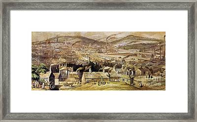 View Of Sheffield England Framed Print by Granger