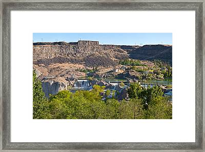 View Of Shoshone Falls In Twin Falls Framed Print by Panoramic Images