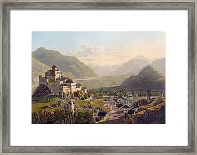 View Of Sion, Illustration From Voyage Framed Print by Gabriel L. & Lory, Mathias G. Lory