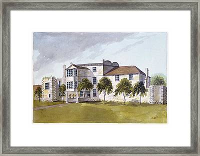 View Of Sir Noel De Carons House, 1809 Wc On Paper Framed Print