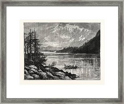 View Of Sooke Lake Framed Print by English School