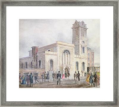 View Of St. Bartholomews Church Wc On Paper Framed Print by English School