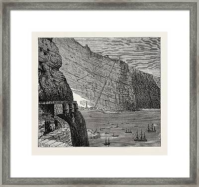 View Of St. Helena Jamestown Framed Print by Litz Collection