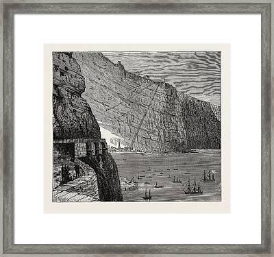 View Of St. Helena Jamestown Framed Print
