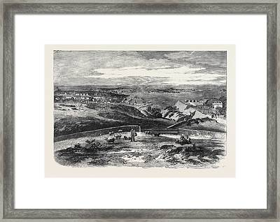 View Of St. Peter Port Guernsey Taken Above Fort George Framed Print