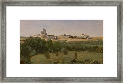 View Of St Peters Framed Print by Jean Baptiste Camille Corot