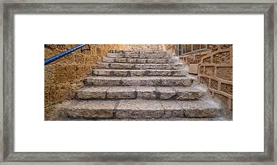 View Of Staircase, Jaffa, Tel Aviv Framed Print