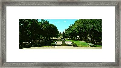 View Of State Capitol From University Framed Print by Panoramic Images