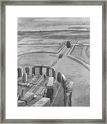 View Of Stonehenge At Sunrise On 21 Framed Print by Mary Evans Picture Library