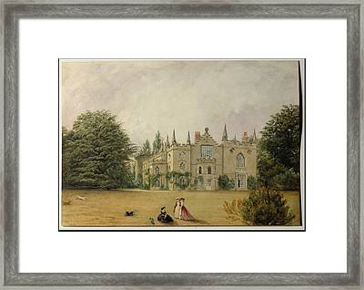 View Of Strawberry Hill Middlesex Framed Print by Gustave Ellinthorpe Sintzenich