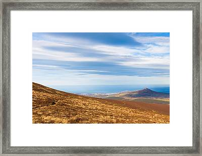 View Of Sugar Loaf From Djouce Mountain Framed Print by Semmick Photo