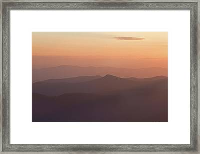 View Of Sunset At Clingmans Dome, Great Framed Print by Panoramic Images