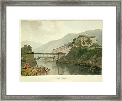 View Of Tassisudon Framed Print by British Library