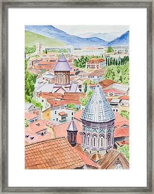View Of Tbilisi-republic Of Georgia Framed Print