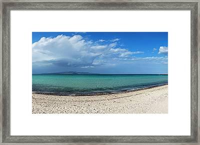 View Of Tecolote Beach In La Paz, Baja Framed Print