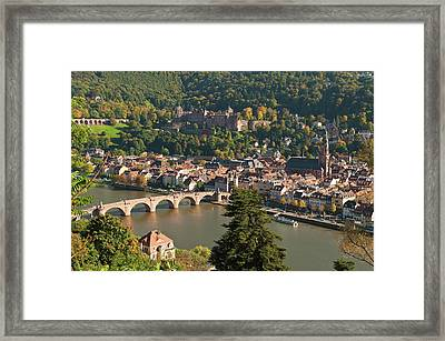 View Of The Alte Brucke Or Old Bridge Framed Print