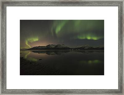 View Of The Aurora Borealis Northern Framed Print by Lucas Payne