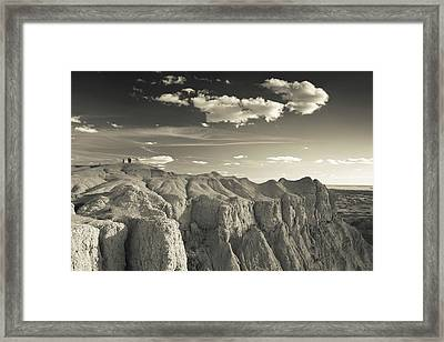 View Of The Badlands National Park Framed Print