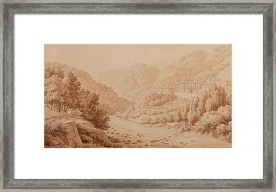 View Of The Baths Of Lucca Framed Print by Constant Bourgeois du Castelet