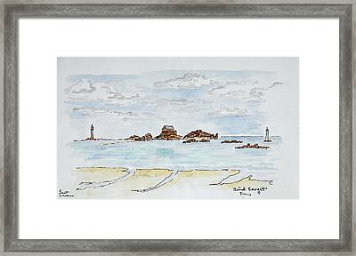 View Of The Bay And Atlantic Ocean Framed Print